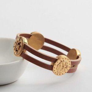 Tory Burch Coin Wrap Bracelet